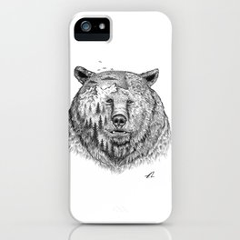 Grizzly forest iPhone Case