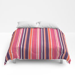 Happy Vertical LInes Pink Version Comforters