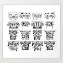 Order of columns Art Print
