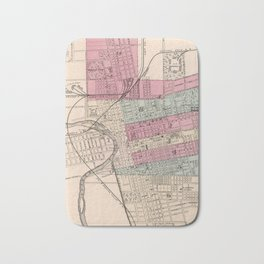 Vintage Map of Columbus Ohio (1868) Bath Mat