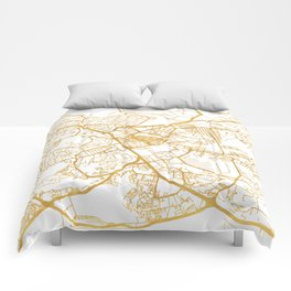 NAIROBI KENYA CITY STREET MAP ART Comforters