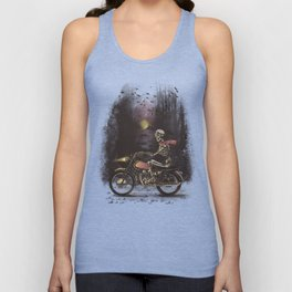 Death Rides in the Night Unisex Tank Top