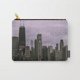 Purple Chicago Evening Carry-All Pouch