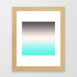 Turquoise gray Ombre Framed Art Print