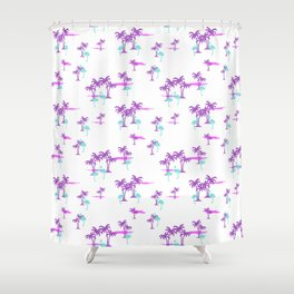 Oasis (Indian Magenta) Shower Curtain