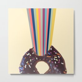 Power of donut bite Metal Print