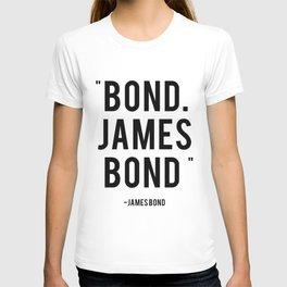 Bond James Bond Quote T-shirt