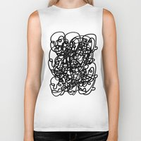 tangled Biker Tanks featuring tangled by Dan Garzi
