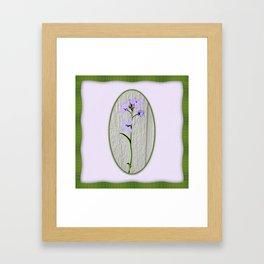 Violet Petals and Spring Green Waves Art Print Framed Art Print