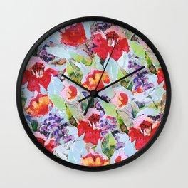 campagne fleurie Wall Clock