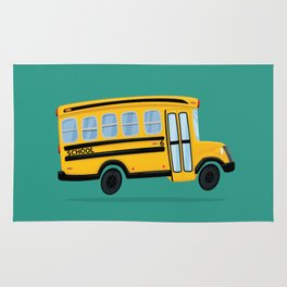 Cute School Bus Rug