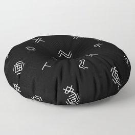 Lost Simbols Floor Pillow