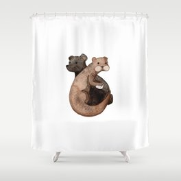 Otter Bear Shower Curtain