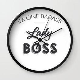 Lady Boss Wall Clock