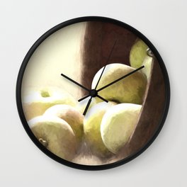 Basket of Apples Wall Clock