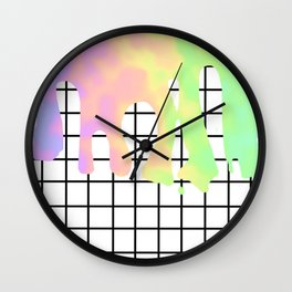colorful grid Wall Clock