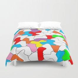Multi-colored Shapes  Duvet Cover