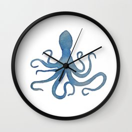 Watercolor Octopus by Lo Lah Studio Wall Clock