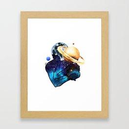 Planets love. Framed Art Print