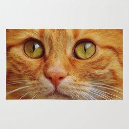 Orange Cat Face Rug