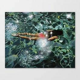 """Under the Levrossos pier"" Canvas Print"