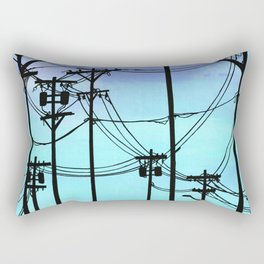 Industrial poles blue Rectangular Pillow