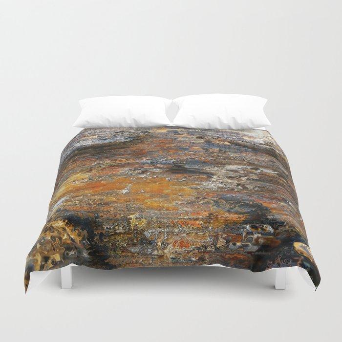 Texture mars rocks Duvet Cover