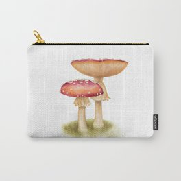 Mushroom Painting | Fly Agaric | AMANITA MASCARA | Watercolour Carry-All Pouch