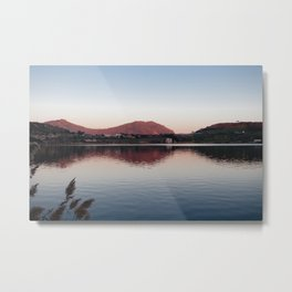 Sunset at lake Metal Print