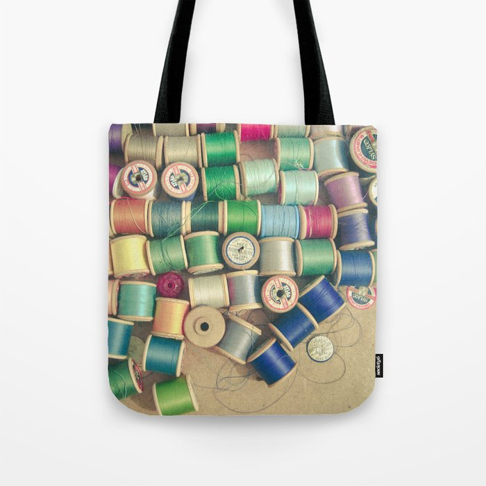 Cotton Reels Tote Bag