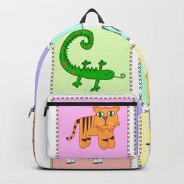 Kiddies puzzle pieces prints Backpack