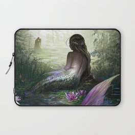Little mermaid - Lonley siren watching kissing couple Laptop Sleeve