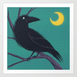 Restless Raven Once Upon A Midnight Dreary Art Print