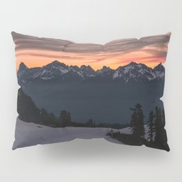 Rising Sun in the Cascades - nature photography Pillow Sham
