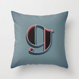 Alphabet Drop Caps Series- 9 Throw Pillow
