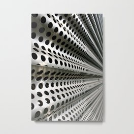 Perforated Ripples Metal Print