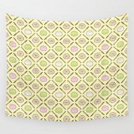 Mochi Kochi   Pattern in Yellow Wall Tapestry