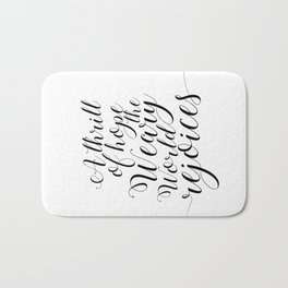 Quote calligraphy Christmas Decoration wall art print Christmas art holiday print Christian Christma Bath Mat