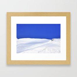 Into the blue - Scottish highlands Framed Art Print