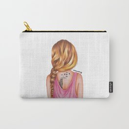 Blonde Rope Braid Girl Drawing Carry-All Pouch