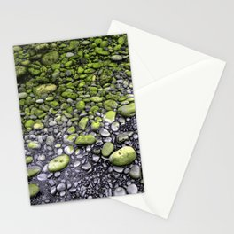 Green & Gray Pebbles Stationery Cards