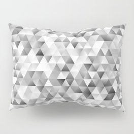 Grey triangle pattern Pillow Sham
