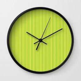 Lime Green Pinstripe Wall Clock