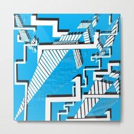 Blue Buildings Metal Print