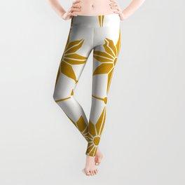 Starburst Mosaic – Ochre Palette Leggings