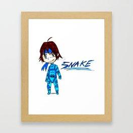 MGS - Snake Framed Art Print