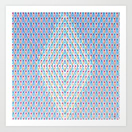 Dots and Triangles Art Print