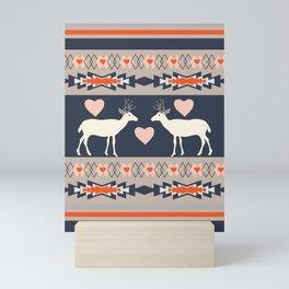 Romantic deer Mini Art Print