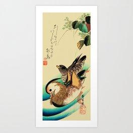 Mandarin Ducks - Vintage Japanese Art Art Print