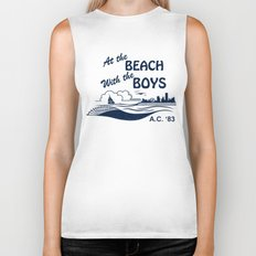 At the Beach with the Boys Biker Tank
